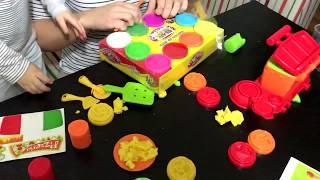 Игры с пластилином. Набор пластилиновая пицца.Урок лепки=))Игры с мягким . Пластилин Плей до Набор