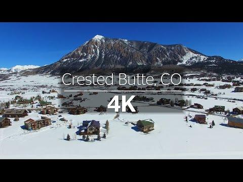 Crested Butte, Colorado Winter via 4k Drone - 2016