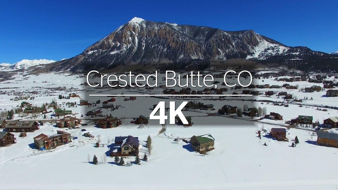 crested butte colorado winter via 4k drone youtube