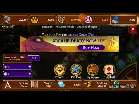 Arcane Legend 10000 Balance Token In Mauso Earn 4M Gold