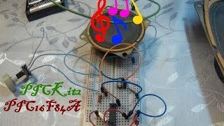 45. Музыкальный звонок на микроконтроллере PIC16F84A (Урок 8. Практика)