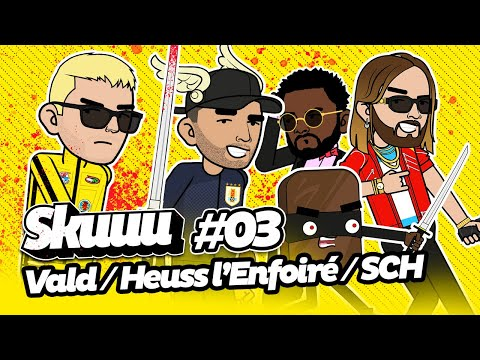 Youtube: Skuuu #3 | Les punchlines de Vald – Heuss – SCH – Damso – Jul – Alkpote