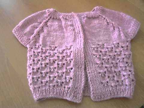 How To Baby Knitting Vest Tutorial Youtube