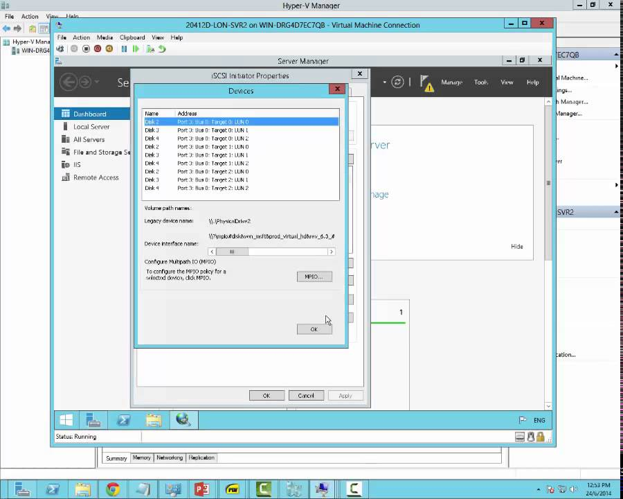 Configure iSCSI MPIO Server 2012 R2 by David Papkin