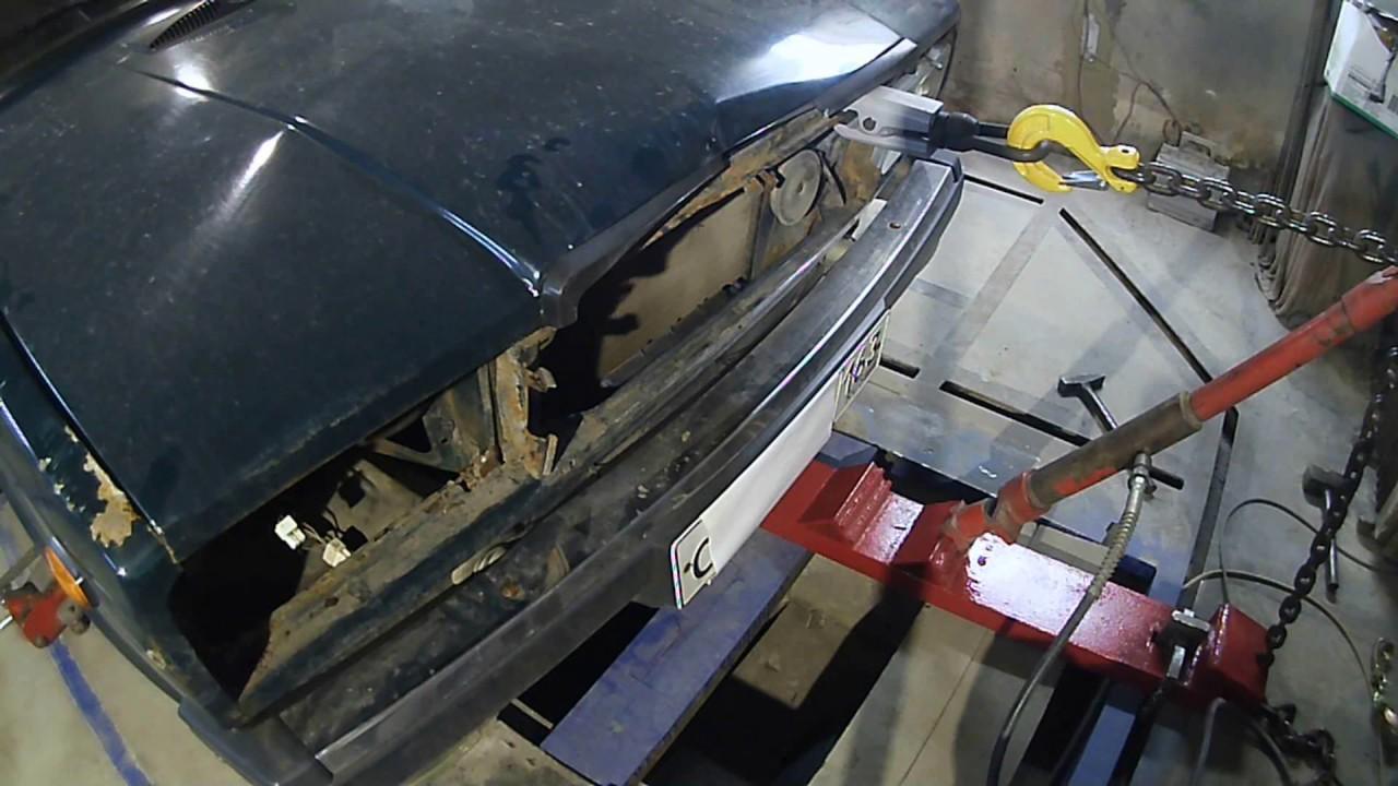 Ваз 07.ремонт морды.Auto Body repair.Как вытянуть...