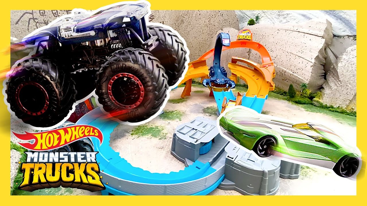 ISLAND RACEWAY SCORPION TAKEDOWN! | Monster Trucks | @Hot Wheels