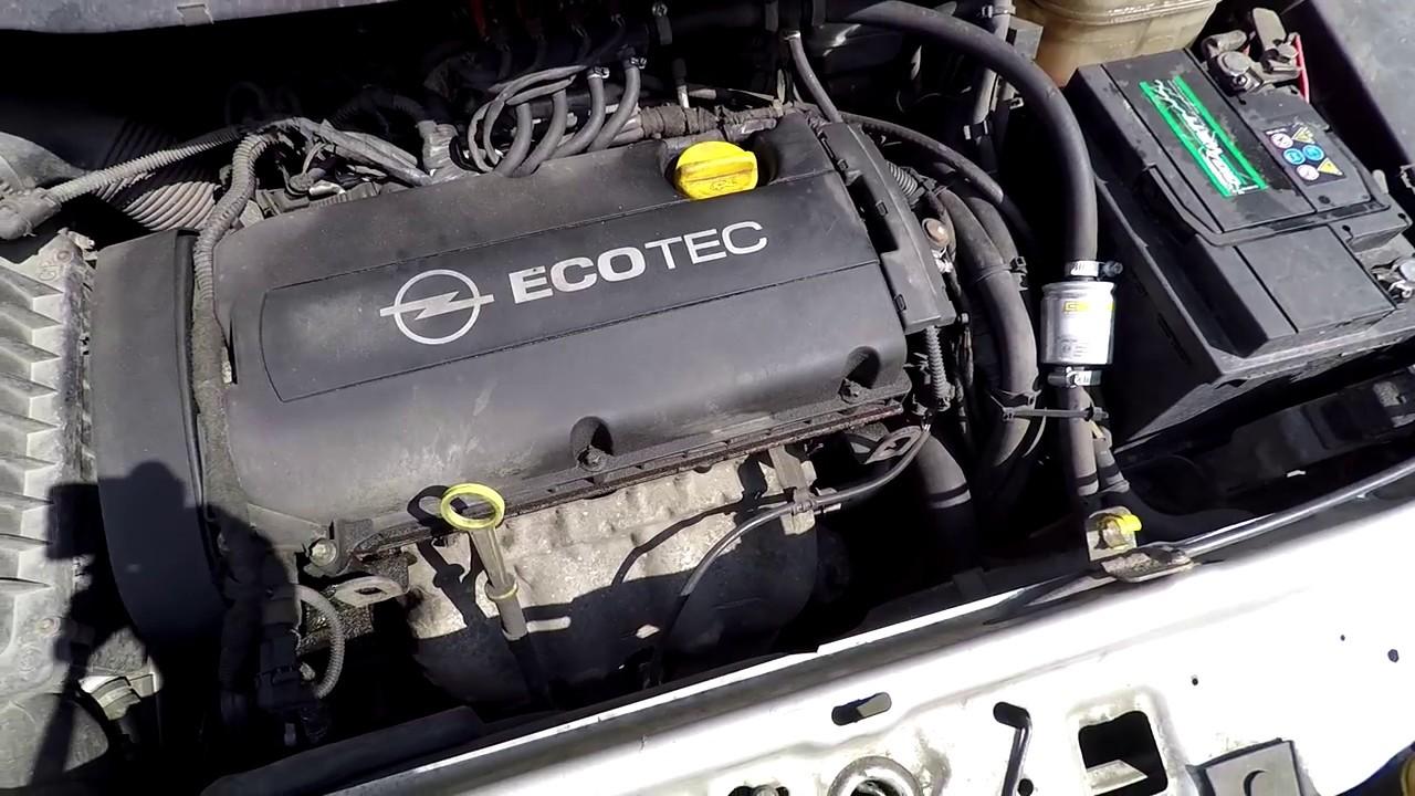 Opel Zafira 1 8 Engine Cold Start And Sound 103kw