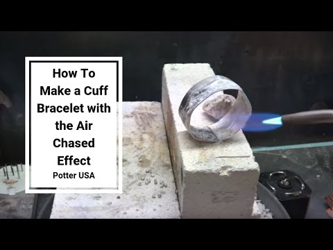How To Make a Cuff Bracelet with the Air Chased Effect