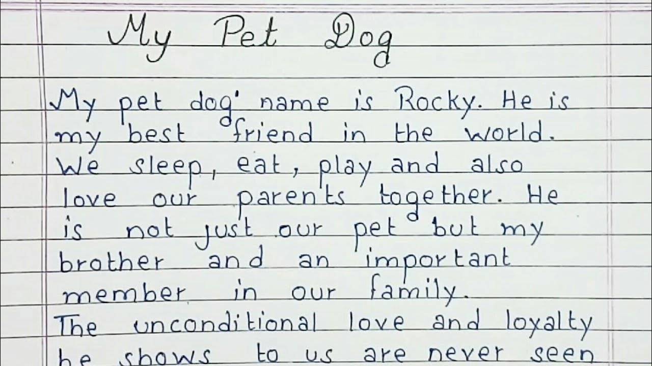 Essay On My Pet Dog + words for all Kids and Students