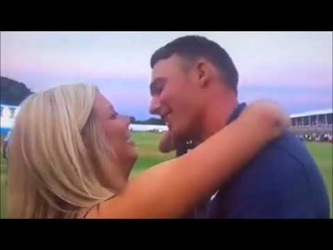 Golfer gets rejected for a kiss after first-ever PGA win