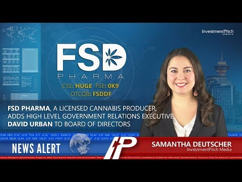 FSD Pharma adds high level government relations executive, David Urban to Board of Directors