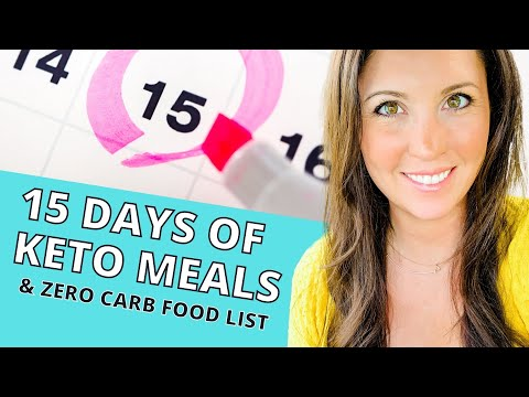 Keto Meal Plan Examples For Beginners & Zero Carb Food List!