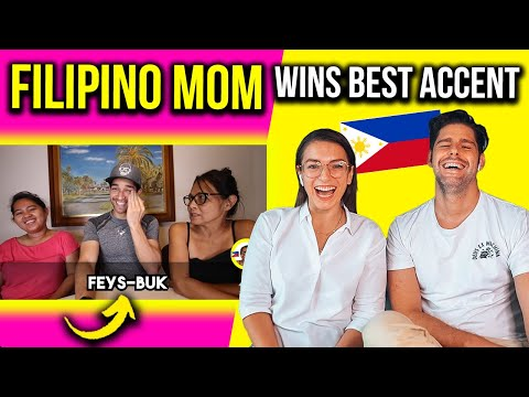 FILIPINO MOM proves Filipinos have the BEST ACCENT in the WORLD! Foreigners Reaction