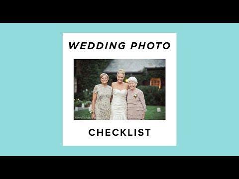 Wedding Photography Portrait Checklist