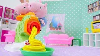 Свинка Пеппа - Видео с игрушками и пластилин Play-Doh