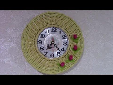 Часы из бумажных трубочек