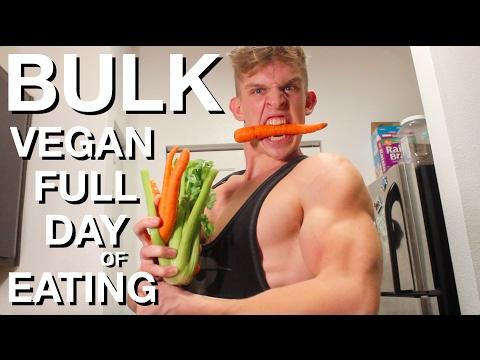 Vegan Bodybuilding Full Day of Eating while BULKING | Clean Vegan Bulk