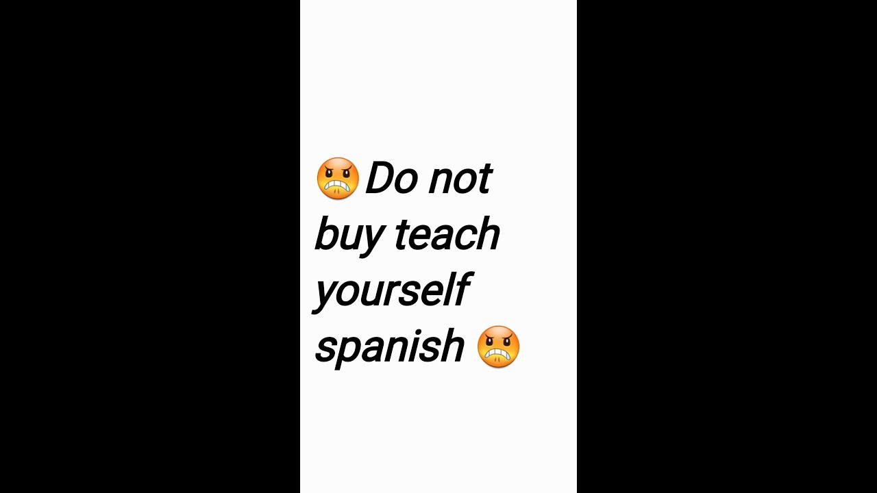 Do not buy teach yourself spanish youtube do not buy teach yourself spanish solutioingenieria Images