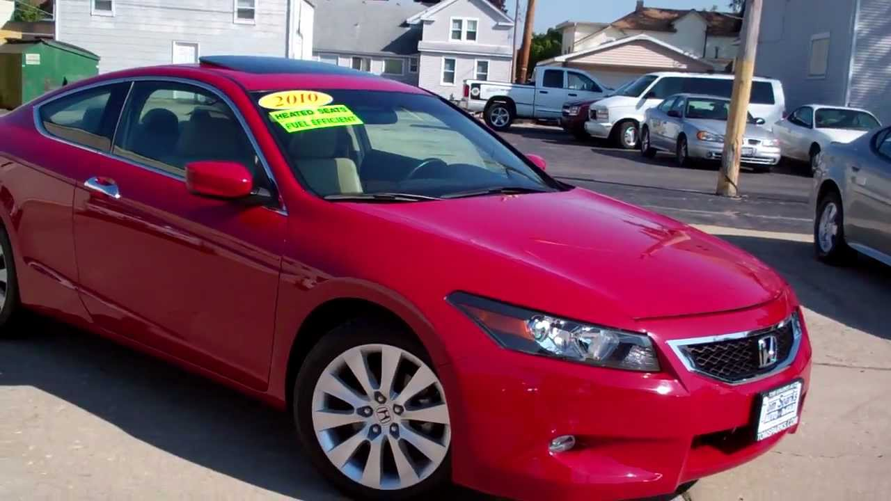 2010 honda accord 2dr coupe ex l very clean dekalb il near. Black Bedroom Furniture Sets. Home Design Ideas