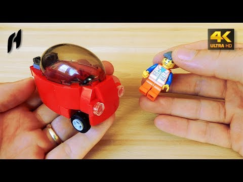 How to Build a Lego Bubble Car (MOC - 4K)