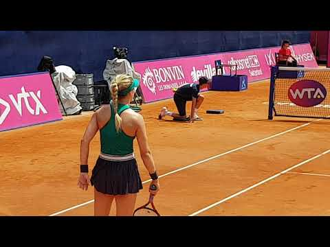 Eugenie Bouchard - Viktorija Golubic 1. Tie-Break in Gstaad 2018