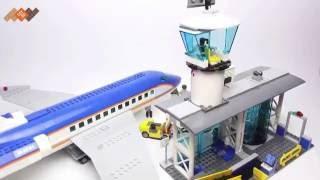 Обзор Лего Сити Аэропорт Пассажирский Терминал и Самолет - 60104 - Lego City Airport
