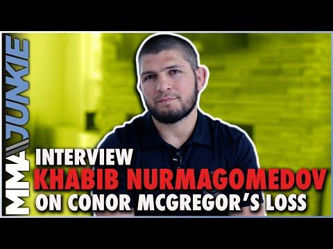 Khabib Nurmagomedov reacts to Conor McGregor's loss, leg break | UFC 264