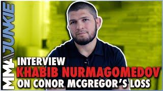 Khabib Nurmagomedov reacts to Conor McGregor's loss, leg break