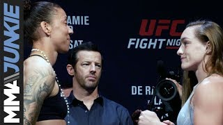 UFC on ESPN+ 13: Germaine de Randamie vs  Aspen Ladd ceremonial weigh in highlight