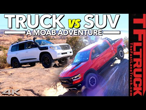 What's Better Off-Road: A Truck Or an SUV? We Scrape Our Way Across Moab To Find Out!
