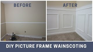 How to Install Picture Frame Style Wainscoting