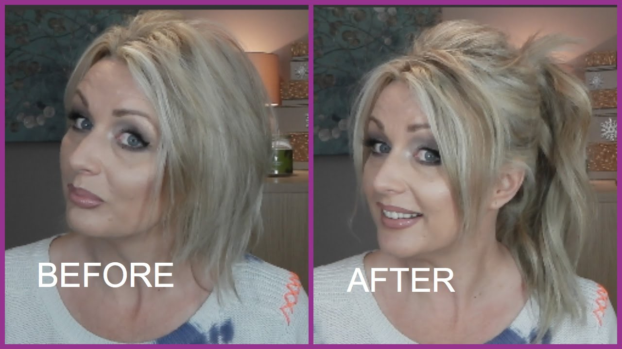 high ponytail with extensions on short fine hair | irresistible me