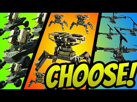WHICH 4x MG DRONE IS BETTER?!? (Sidekick,Turret,Atack)- CROSSOUT Gameplay