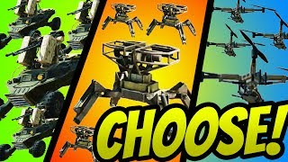 WHICH 4x MG DRONE IS BETTER?!? (Sidekick,Turret,Attack)- CROSSOUT Gameplay