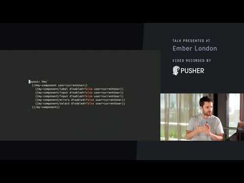 Contextual Components and Forms - Ember London - August 2017