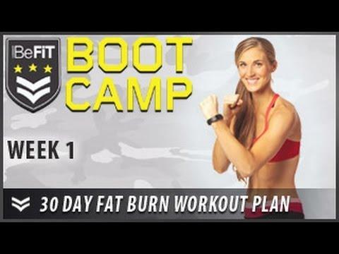 30 Day Fat Burn Workout Plan Week 1 BeFiT Bootcamp