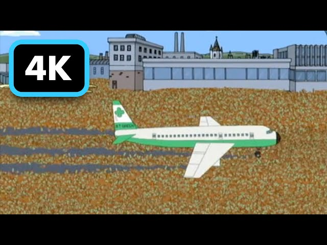 Family Guy - Peter Lands in Ireland Airport Surrounded by Beer Bottles