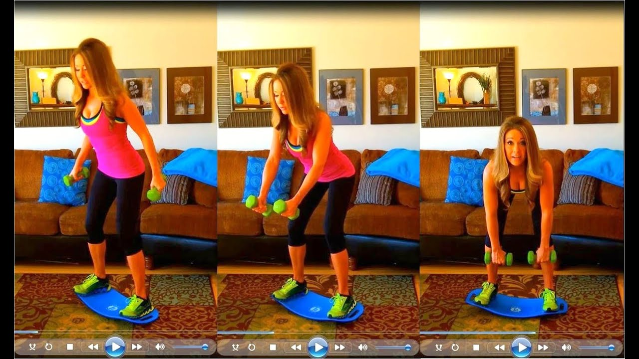 Simply Fit Board ~ 10 Minute Back Workout - YouTube