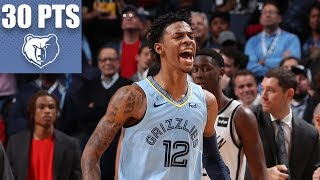 Ja Morant notches his first career 30-point game | 2019-20 NBA Highlights