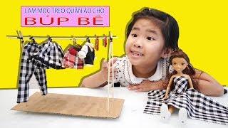 Bé Bún Làm Móc Treo Quần Áo Cho Búp Bê | How to make Cloth Hook for Doll Toys