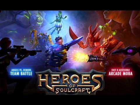видео: heroes of soulcraft - Ролевая игра в жанре moba на android