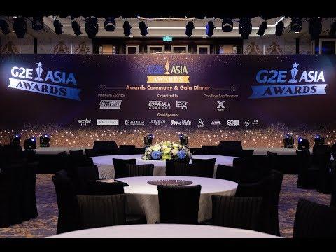 G2E Asia Awards Awards Ceremony & Gala Dinner  2018 highlight