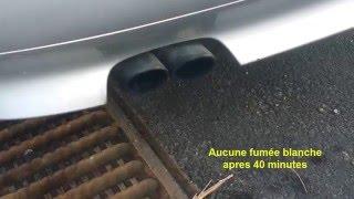 Fumée blanche échappement démarrage BMW
