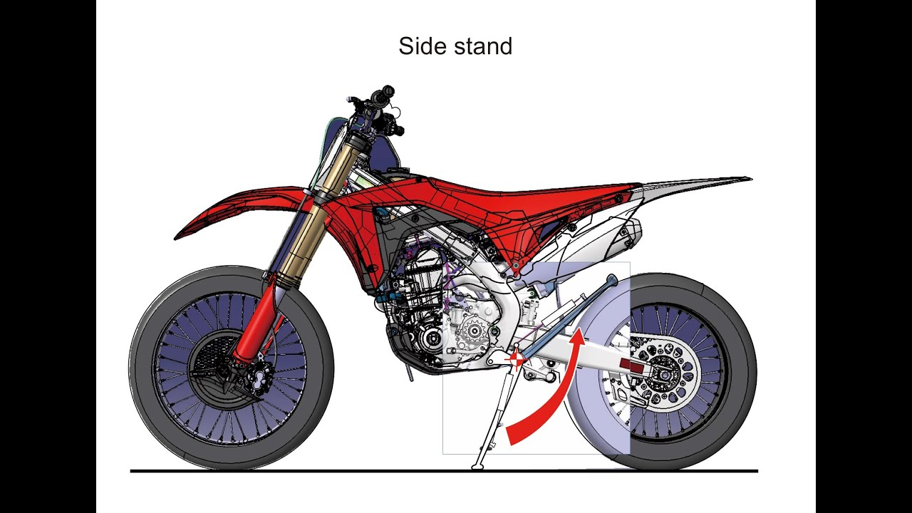 2017 honda crf450rx dirt bike motorcycle engine frame suspension pictures youtube - Dirt Bike Frame