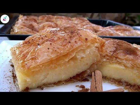 Παραδοσιακο Γαλακτομπουρεκο με Σιμιγδαλι το ΑΠΟΛΥΤΟ Σιροπιαστο Γλυκο Galaktoboureko Greek Recipe