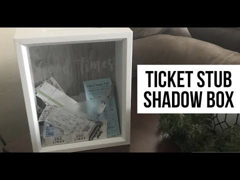 ticket stub shadow box how to make quick project youtube