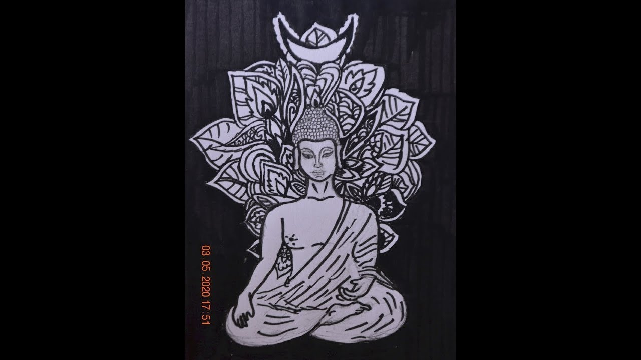Mandala - Budha Drawing - YouTube