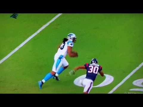 Carolina Panthers' Kelvin Benjamin STIFF ARM 8/9 2017 by Robert Scott