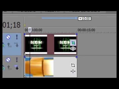 Como colocar uma foto em cima do video - Sony Vegas 10 - HD 1080px