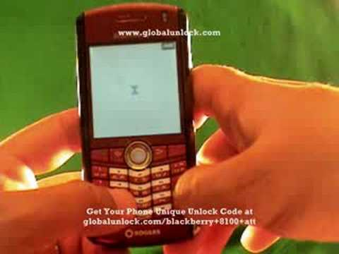 How to unlock AT&T Blackberry 8100 Pearl globalunlock.com